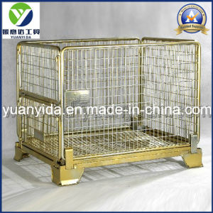 Stackable Gold Galvanized Heavy Duty Mesh Pallet Box Containers Cages pictures & photos