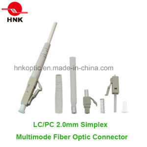 LC PC 2.0mm Simplex Multimode Fiber Optic Connector pictures & photos