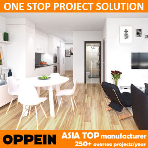 Australia Apartment White Modern Wooden HPL Kitchen Home Furniture (OP15-HS5) pictures & photos