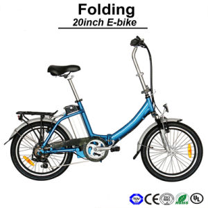 Small Wheel Size Lithium Battery Ebike Folding Electric Bicycle (TDN02Z) pictures & photos