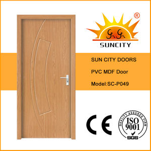 Sun City Economic Flush Toilet PVC Door Design (SC-P049) pictures & photos