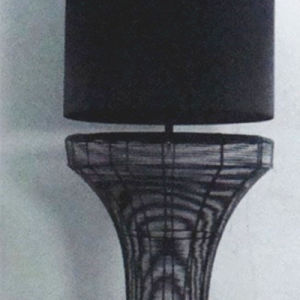 Black Organza Fabric Shade Standing Floor Lamp for Hotel Project pictures & photos
