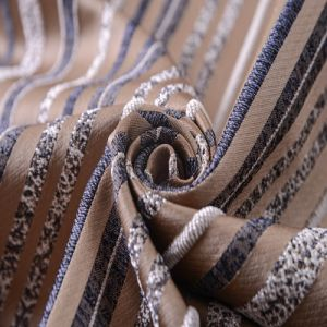 Stripe Item Jacquard Furniture Fabric with Metal Material pictures & photos