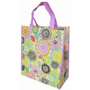 Custom Colorful Printing Laminated PP Woven Shopping Bag (LJ-352)