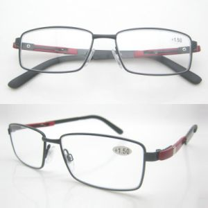 Reading Glasses with Red Metal Decoration Temples pictures & photos
