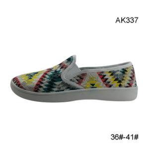 Leisure Cheap Price Injection Wholesale Canvas Women Shoes (AK337) pictures & photos
