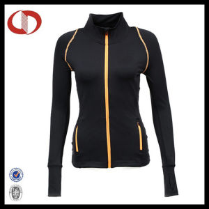 Custom Blank Zipper Compression Women Shirts pictures & photos