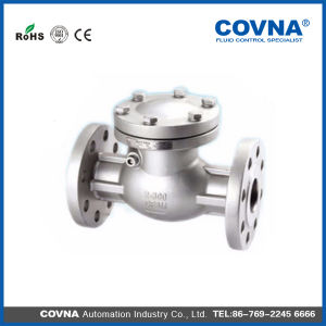 "2 1/2""Stainless Steel Flange End Swing Check Valve for Compressors pictures & photos"
