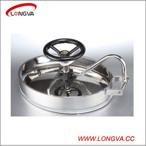 Elliptic Sanitary Stainless Steel Tank Manhole Cover with Pressure pictures & photos