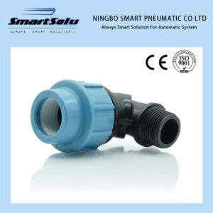 High Quality PP Compression Fitting Elow pictures & photos