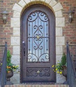 Wrought Iron Double Entry Door for House pictures & photos