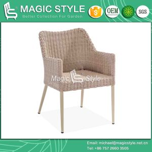 Outdoor Dining Chair with Arm Rattan Wicker Dining Chair Hotel Project Club Chair Garden Rattan Chair Patio Dining Chair pictures & photos