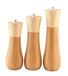 Bamboo Manual Pepper Mill Salt Shaker Grinder pictures & photos
