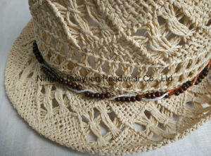 100% Paper Hand Woven Fedora Straw Hat pictures & photos