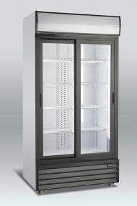 800L Double Door Showcase Cooelr pictures & photos