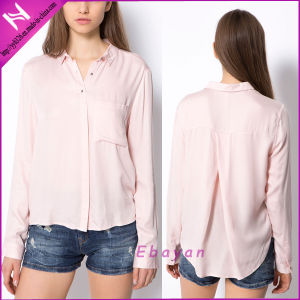 Fashion Women Wear Plain Long Sleeve Blouse