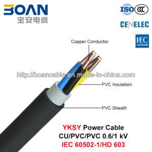 Yksy, Low Voltage Power Cable, 0.6/1 Kv, Cu/PVC/PVC (IEC 60502-1/HD 603) pictures & photos