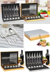 24 Piece Stainless Steel Tableware Cutlery Flatware Set (QW-0777) pictures & photos
