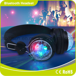 Colorful DJ LED Light Wireless Bluetooth Headphones Shinning Flash Headphones pictures & photos