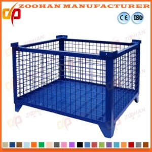 Industrial Stackable Steel Wire Mesh Storage Cage with Wheels (Zhra23) pictures & photos