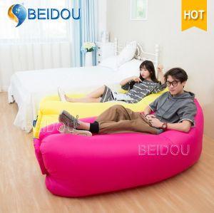 Hot Sale Nylon Single Mouth Hangout Lazy Bag Laybag Hammock Inflatable Sleeping Bag
