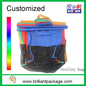 Foldable Non Woven Supermarket Trolley Shopping Cart Bag pictures & photos