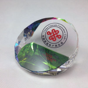 Blank Clear Crystal Paperweight for Office Decoration pictures & photos