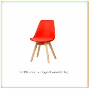 Chairs/Home Chairs/Dining Chairs (Red PU Cover and Original Wooden Legs) pictures & photos