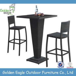 Cheap Outdoor Furniture Rattan Bar Set Table & Chair