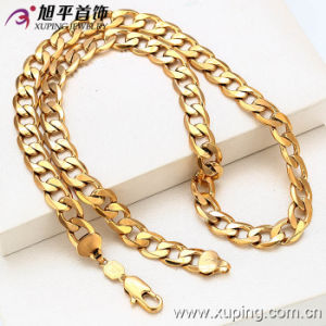 China Wholesale Xuping Special Price 18k Gold-Plated Men′s Necklace pictures & photos