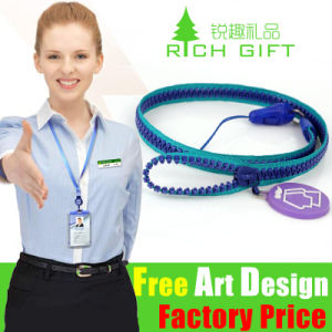 Factory Directly Polyester ID Card Strap with Clip Free Sample pictures & photos