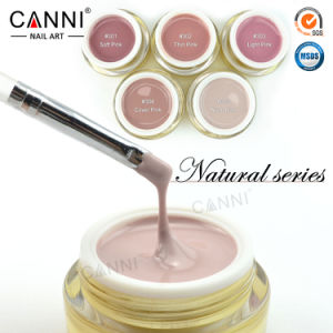 #50951W Nail Art Thick Builder Gel Nails Pink Canni 15ml Finger Nail Extension UV Gel Nail Cover Pink Camouflage UV Builder Gel