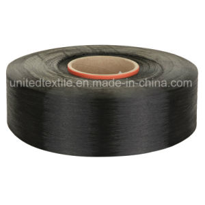 Polyester Dope Dyed Black Yarn (75D/36F SD FDY) pictures & photos