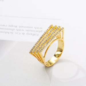 Woman Jewelry Party Accessory Paved Setting Cubic Zirconia Ring pictures & photos