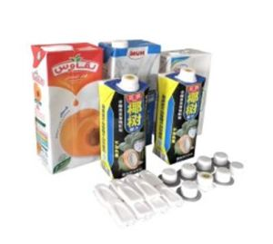 Milk /Juice / Beverage / Carton Brick Pak Package /Packing with Cap pictures & photos