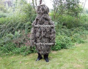 Military Long Ghillie Jacket Tactical Sapper Suit Sniper Ghillie Poncho Ghillie Suit Desert