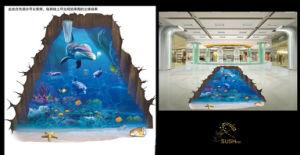 Dolphin Sea 3D Floor Sticker pictures & photos