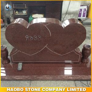 India Red Granite Double Heart Tombstone/Monument pictures & photos