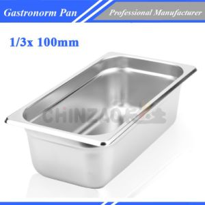 1/3 100mm Deep Stainless Steel Gastronorm Container Food Gn Pan1304A pictures & photos