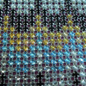 Mixed Colored Clawed Crystal Stone Mesh Net pictures & photos