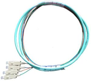 4 Core Om3 Sc/Upc Fiber Pigtail 1m pictures & photos