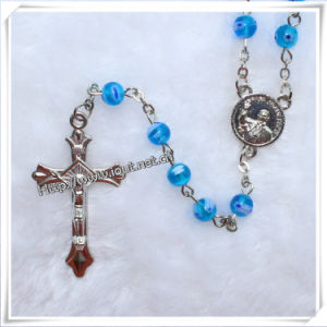 6mm Blue Glass Beads Rosary (IO-cr204) pictures & photos