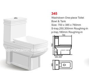 Ceramic One-Piece Toilet (345) , Washdown Toilet, S Trap, P Trap pictures & photos