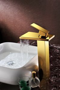 Chroming Color Waterfall Faucet Basin Tap (SD-S-H-008B) pictures & photos