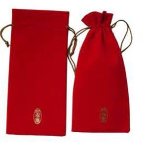 Personlized Medium Red Velvet Drawstring Gift Pouches (CVB-1138) pictures & photos
