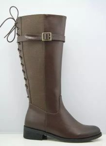 New Style Fashion Flat Ladies Knee High Boots with Zipper (S 308) pictures & photos