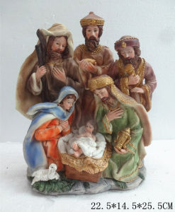 Polyresin Jesus Christmas for Home Decoration pictures & photos