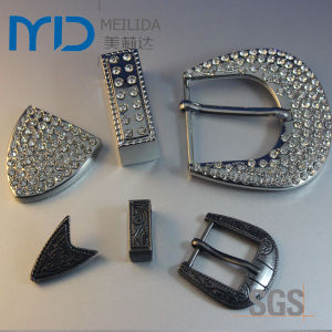 3 Piece Suit Pin Belt Buckles Adorn with Shining Diamond for Women pictures & photos