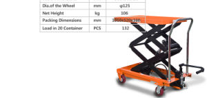 Hydraulic Scissor Lift Table Truck 350kg Load Capacity pictures & photos