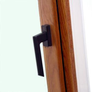 Aluminium Wood Casement Window with Multi Lock K03056 pictures & photos